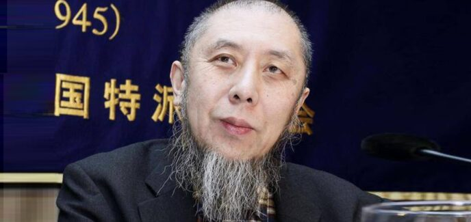 Photo: Dr.Hassan Ko Nakata attends a news conference at the Foreign Correspondents' Club of Japan in Tokyo in January 2015. photo by Kyodo